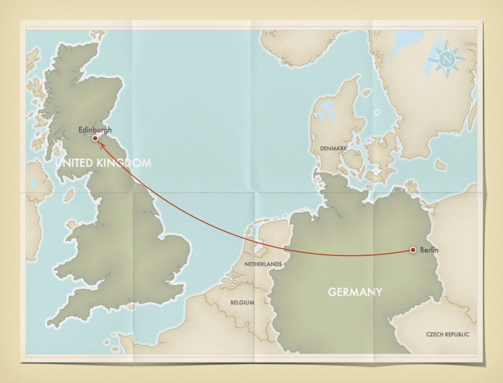 Berlin to Edinburgh - our adventure begins