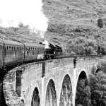 the jocabite crossing the glenfinnan viaduct