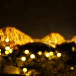 Forth Rail Bridge at night, and a nifty trick