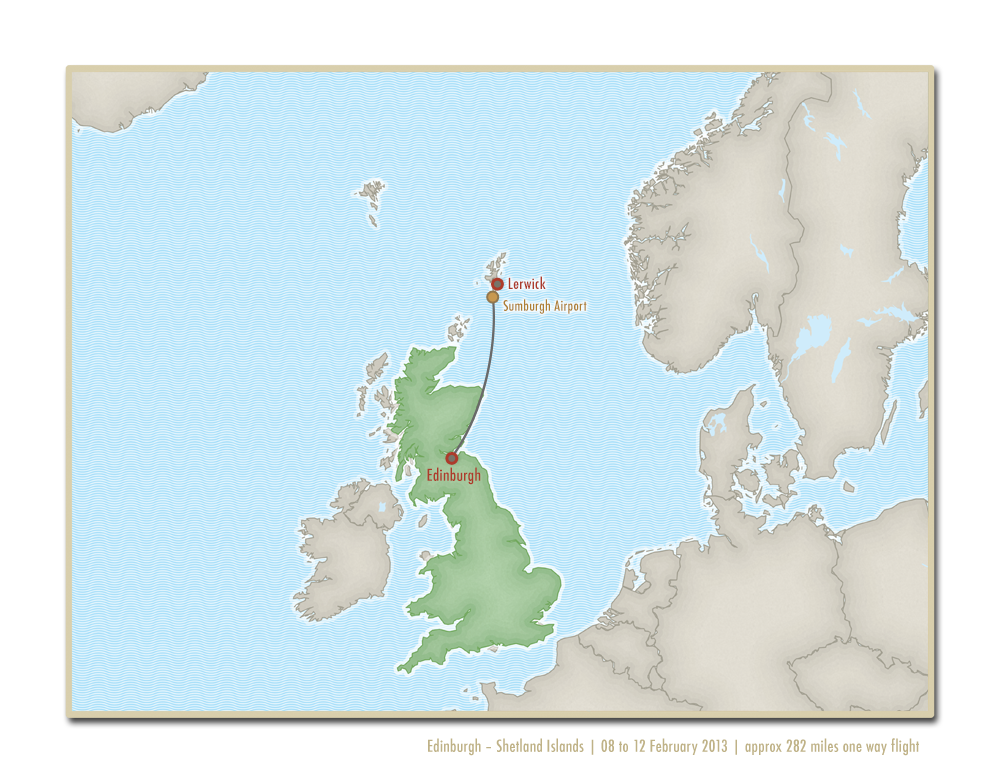 Map - Shetland flight