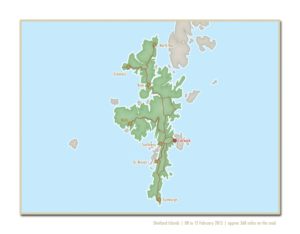 Map - Shetland travel