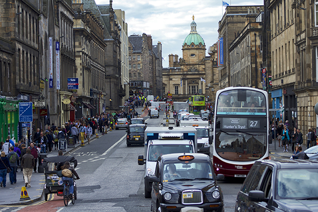 Edinburgh traffic