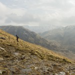 Climbing Beinn Fhionnlaidh